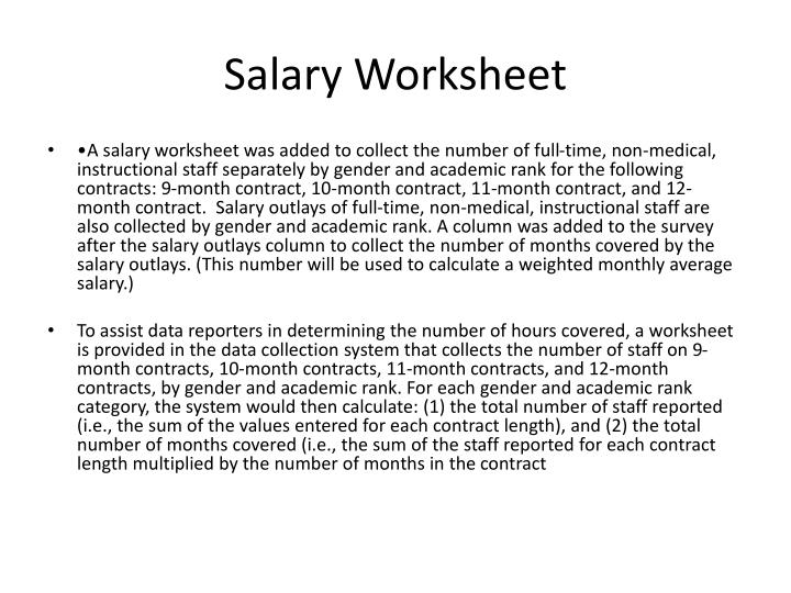 Salary Worksheet