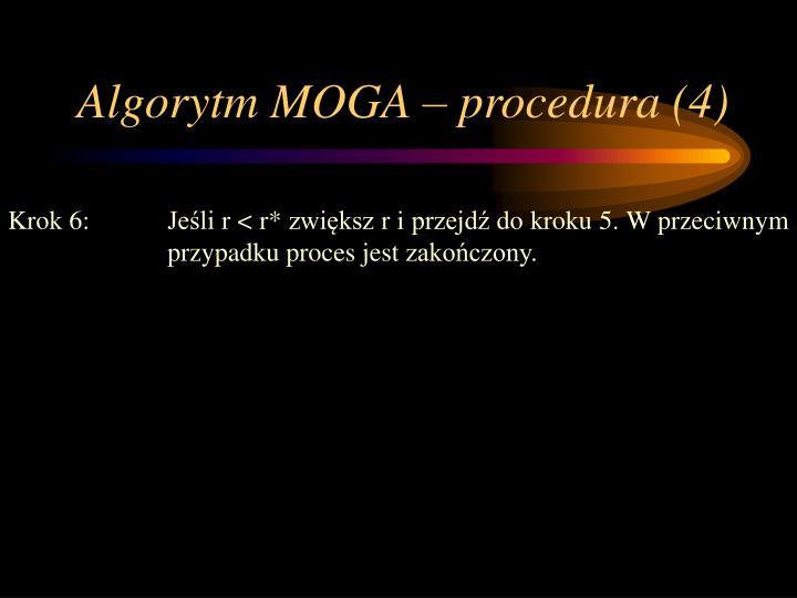 Algorytm MOGA – procedura (4)