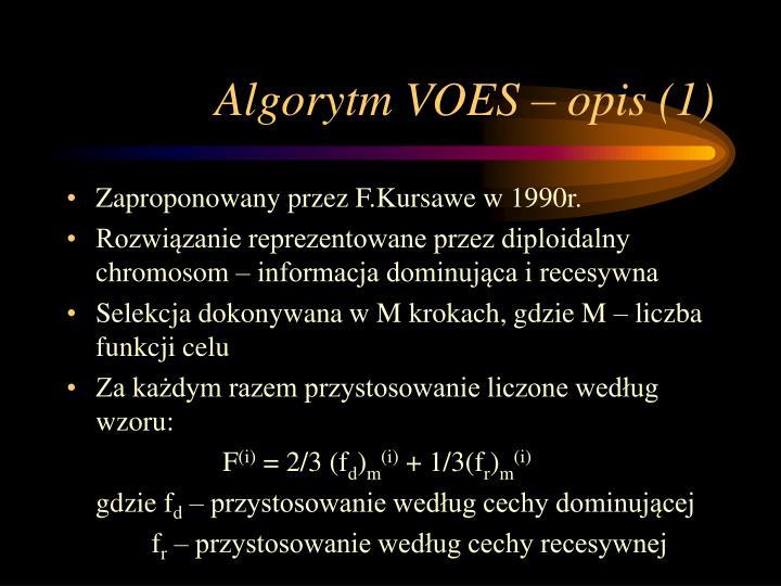 Algorytm VOES – opis (1)