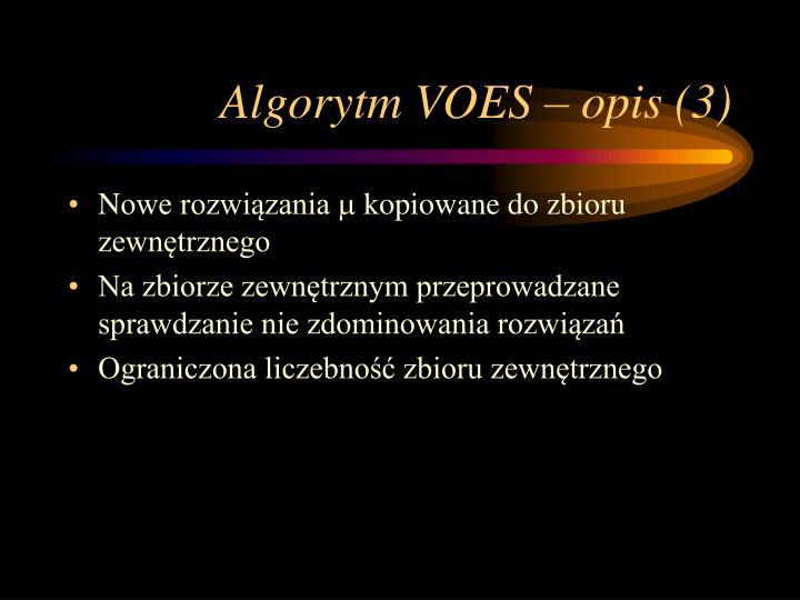 Algorytm VOES – opis (3)