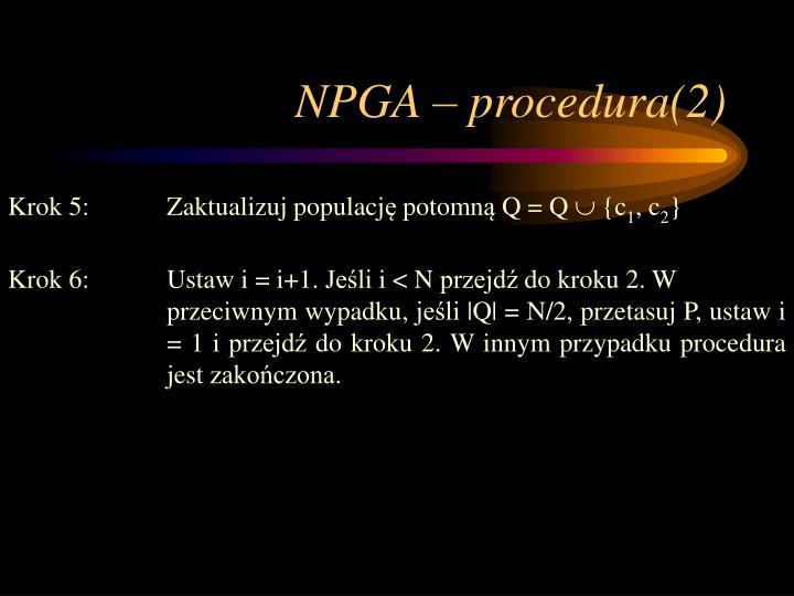 NPGA – procedura(2)