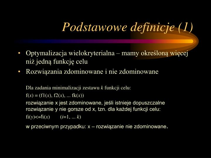 Podstawowe definicje (1)