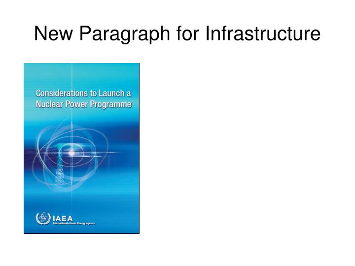 new paragraph for infrastructure n.