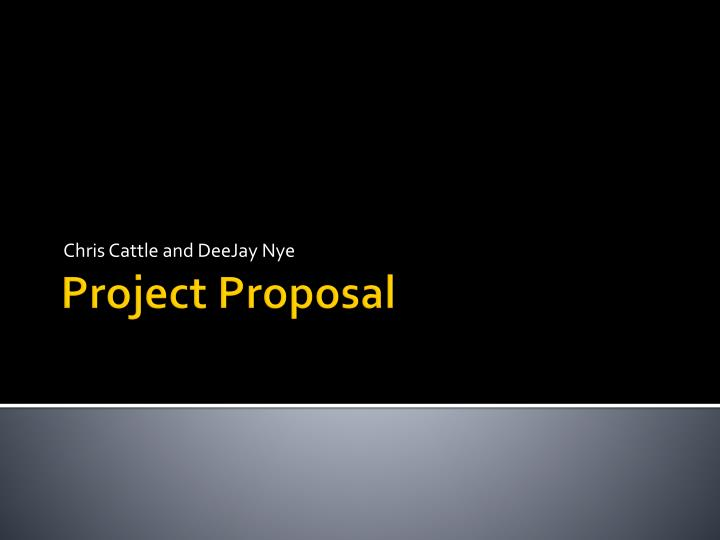project proposal powerpoint