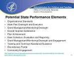 potential state performance elements