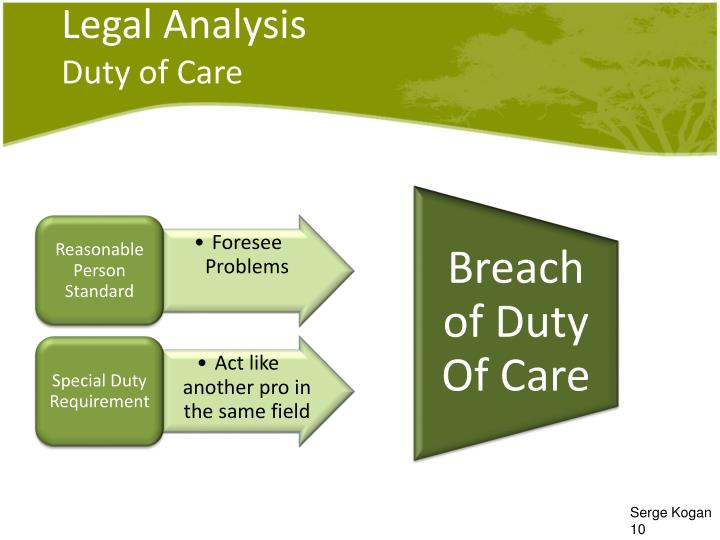 analyzing the duty of care policy Excerpt from essay : policy of duty of care for students students' policy head: analysis of policy of duty of care for students analysis of policy of duty of care for students.
