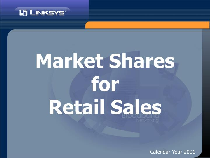 market shares for retail sales