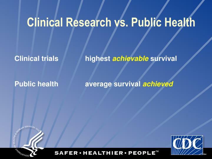 Clinical Research vs. Public Health