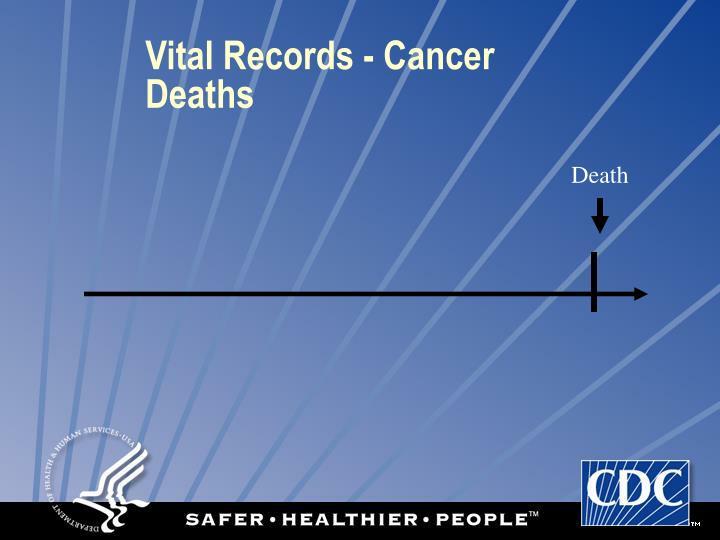 Vital Records - Cancer Deaths