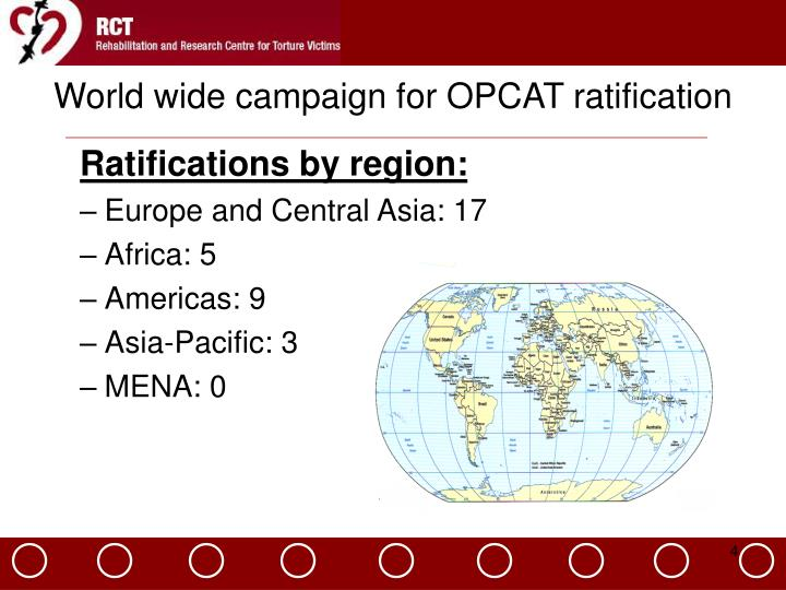 World wide campaign for OPCAT ratification