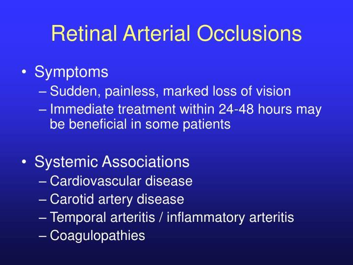 Retinal Arterial Occlusions