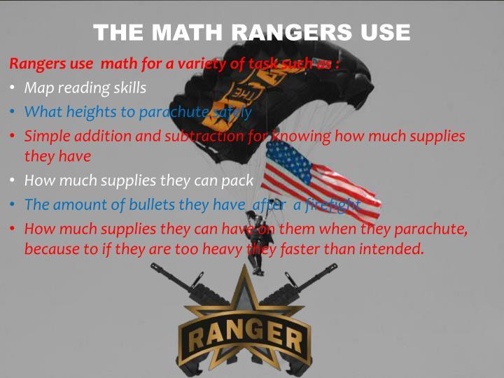 The math rangers use