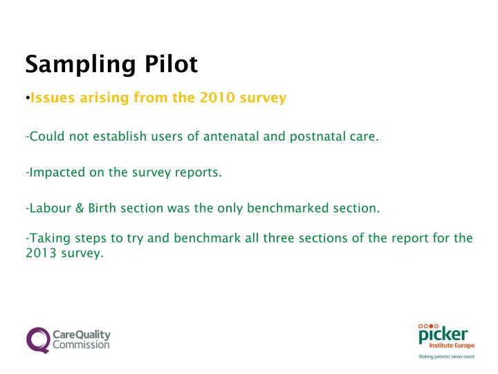 Sampling Pilot