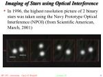 imaging of stars using optical interference