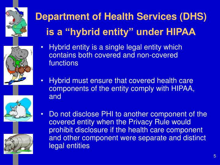"""Department of Health Services (DHS) is a """"hybrid entity"""" under HIPAA"""
