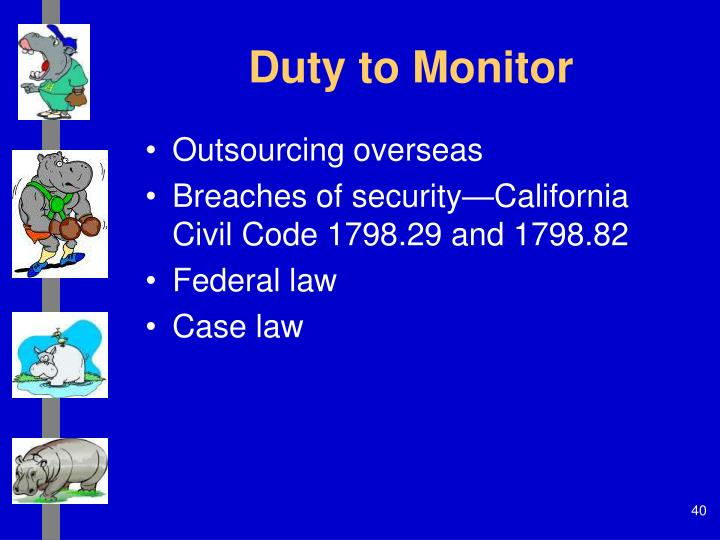 Duty to Monitor