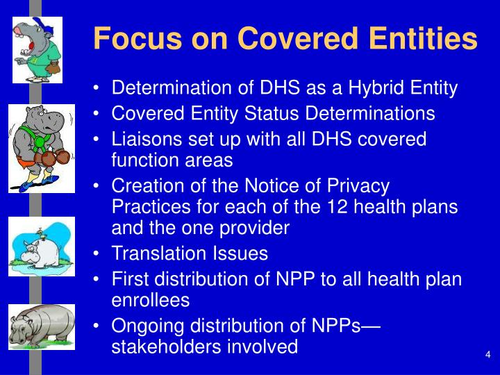 Focus on Covered Entities