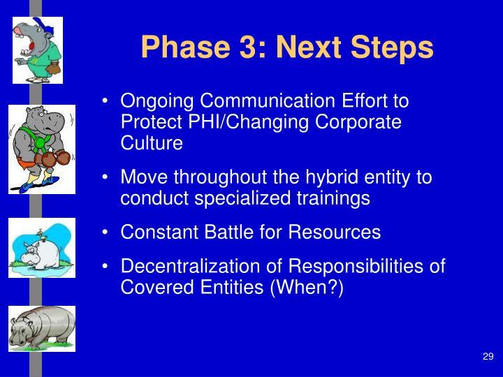 Phase 3: Next Steps
