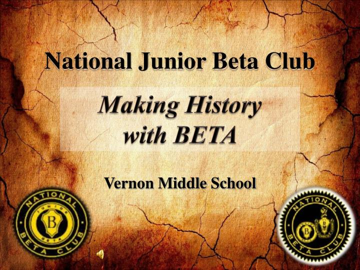 making history with beta essay Almost every assignment you complete for a history course will ask you to make an as you work on your essay  making an argument-- every thesis deserves its.