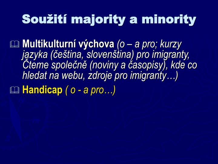 Soužití majority a minority