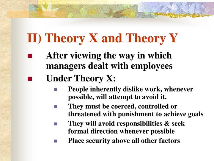 II) Theory X and Theory Y