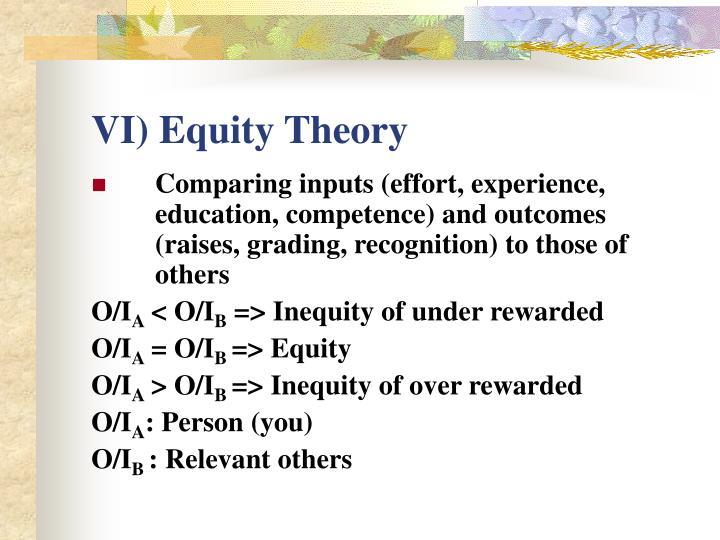 VI) Equity Theory