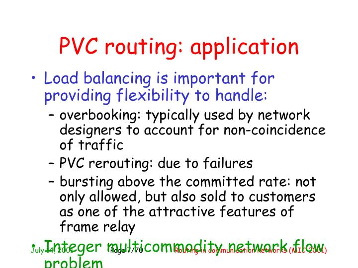PVC routing: application