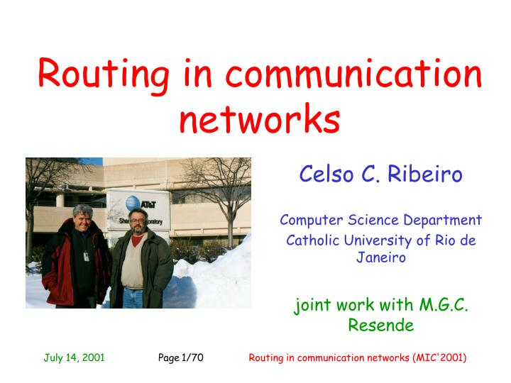 Routing in communication networks