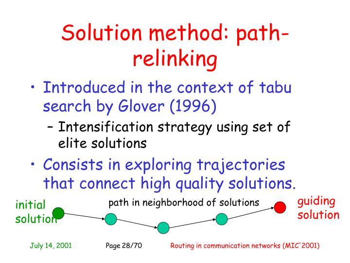 Solution method: p