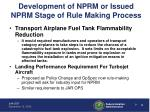 development of nprm or issued nprm stage of rule making process3
