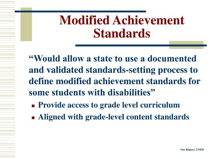 Modified Achievement Standards