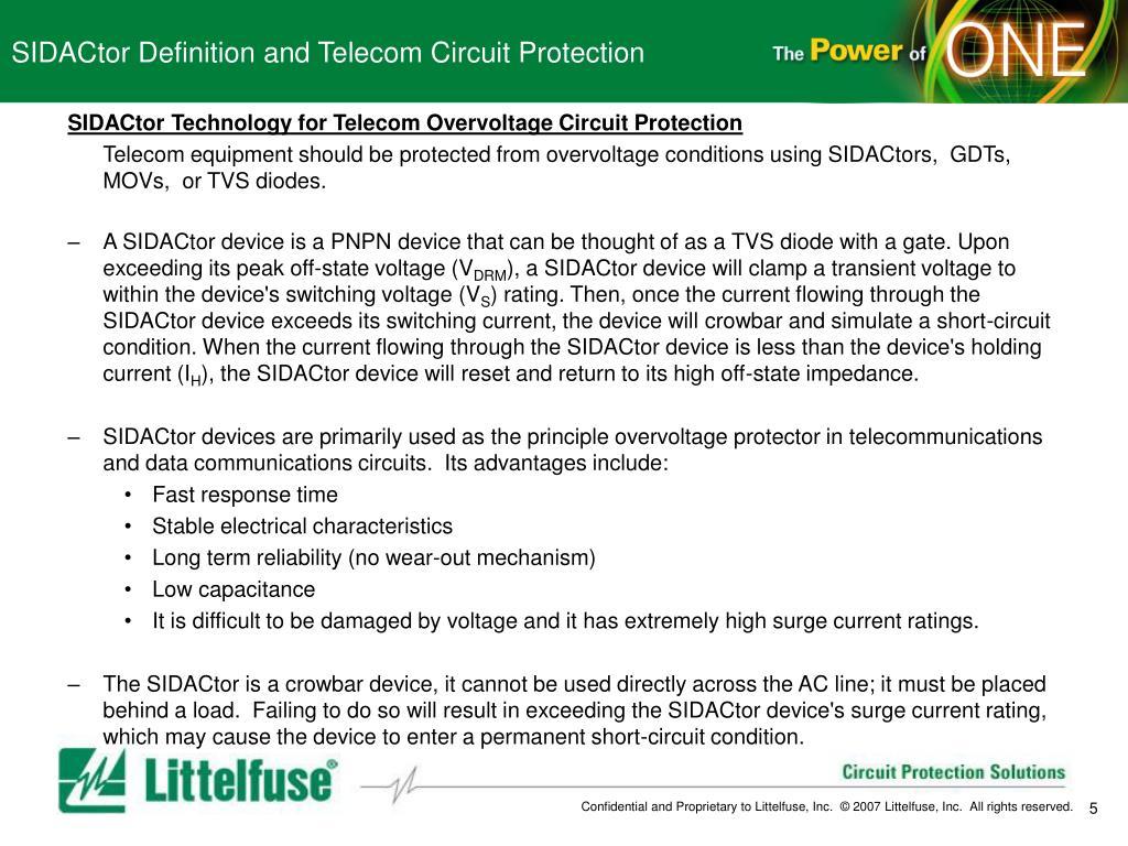 PPT - Telecom SIDACtor Training PowerPoint Presentation - ID