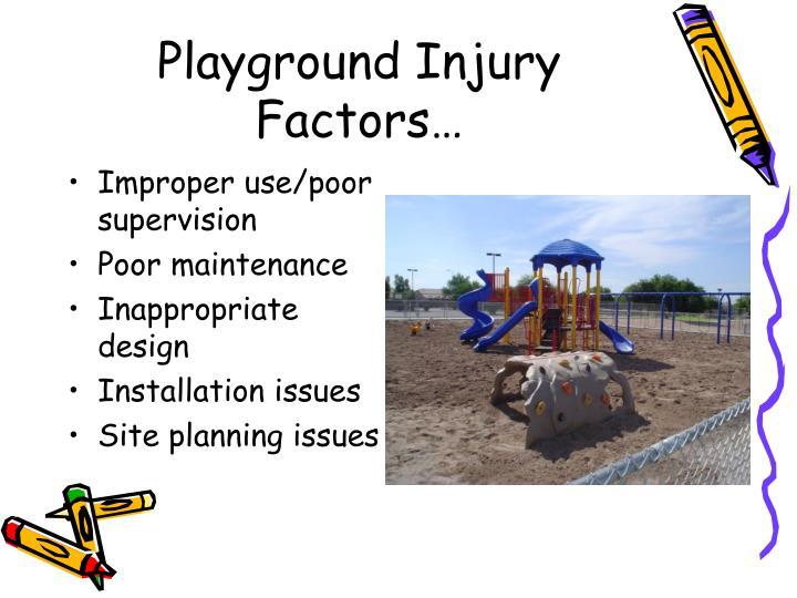 Playground Injury Factors…