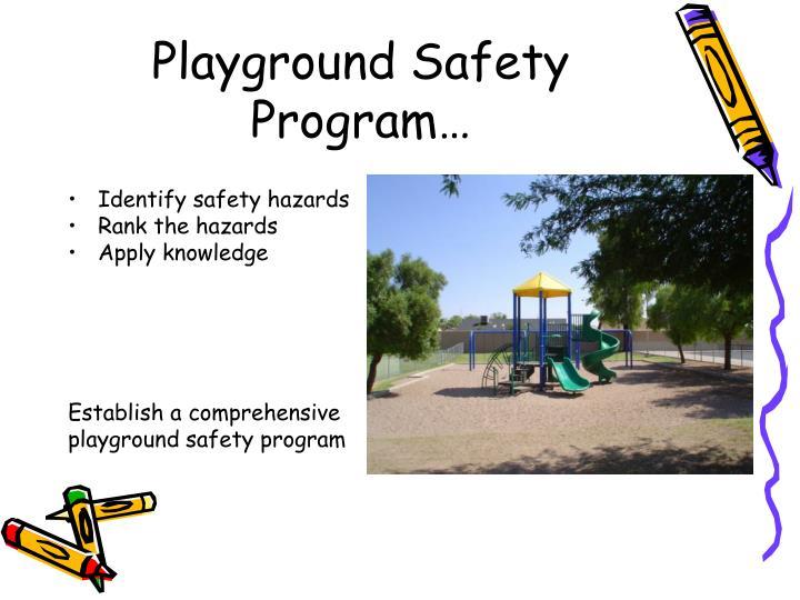 Playground Safety Program…