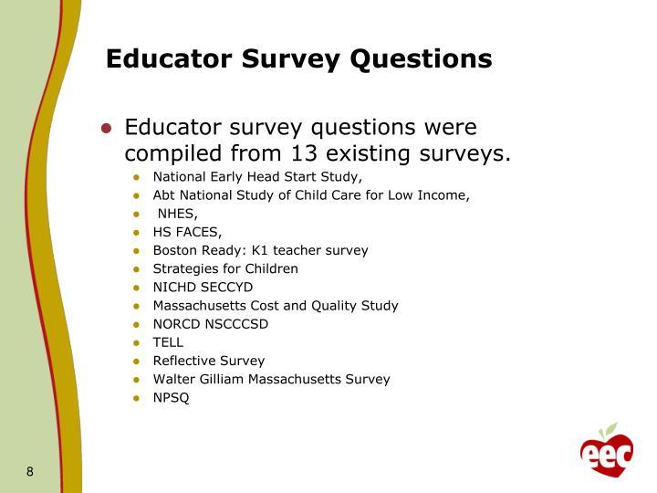 Educator Survey Questions