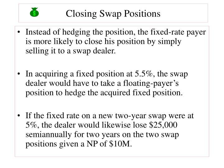 Closing Swap Positions