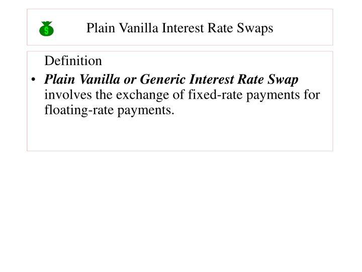 Plain Vanilla Interest Rate Swaps