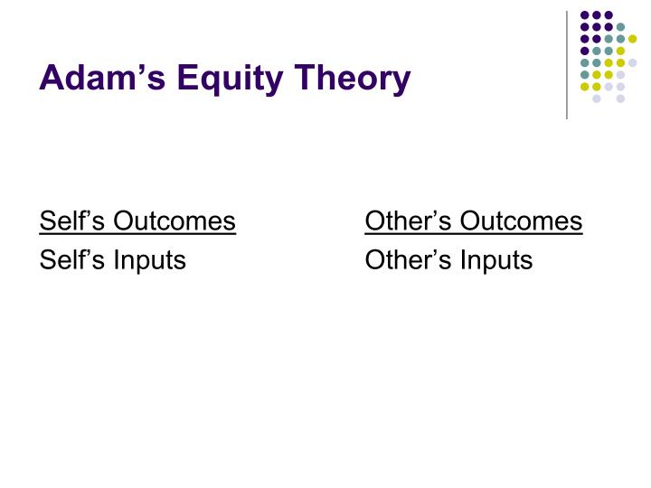 Adam's Equity Theory