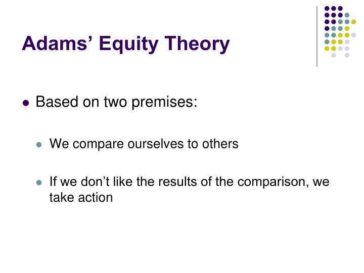 Adams' Equity Theory