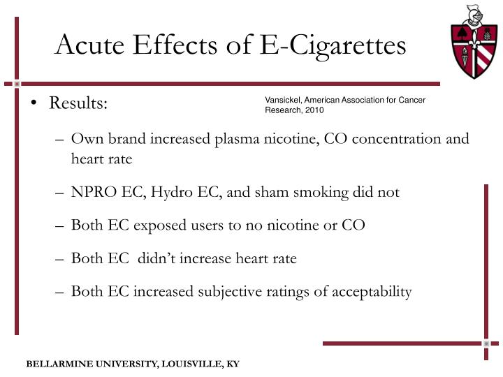 increased heart rate after smoking cigarettes