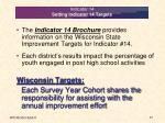 indicator 14 setting indicator 14 targets