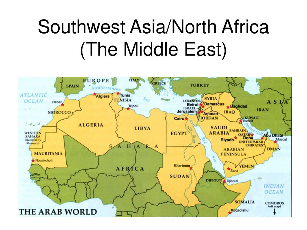 Middle East Southwest Asia And North Africa Map | Biofocuscommunicatie