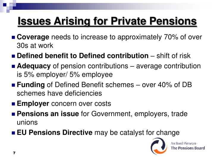 Issues Arising for Private Pensions