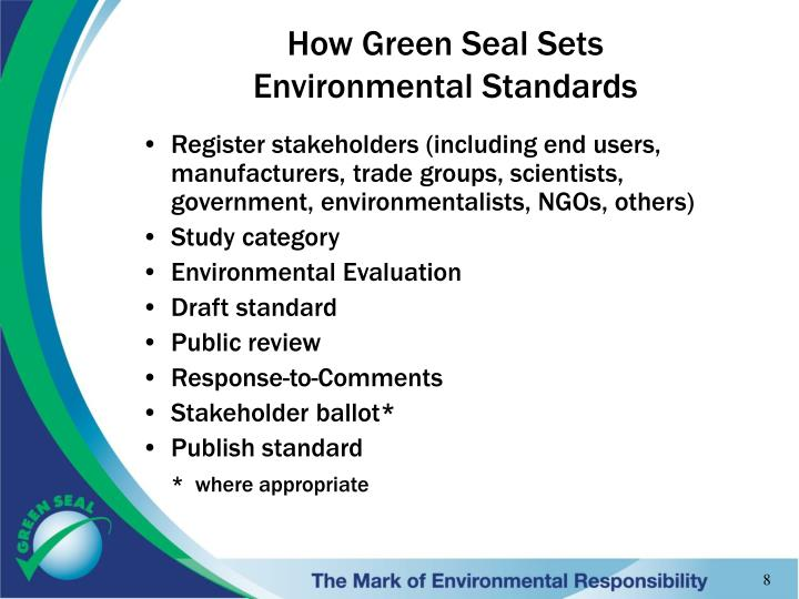 How Green Seal Sets