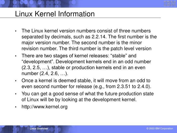 Linux Kernel Information