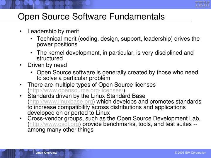 Open Source Software Fundamentals