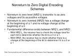 nonreturn to zero digital encoding schemes