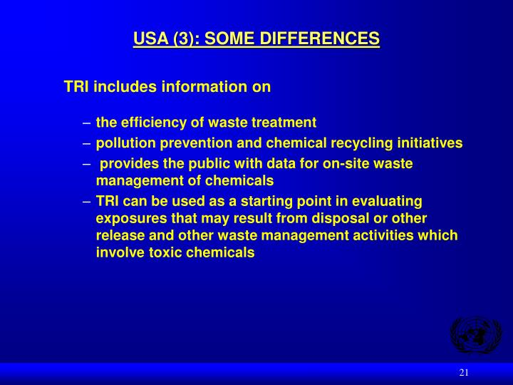 USA (3): SOME DIFFERENCES