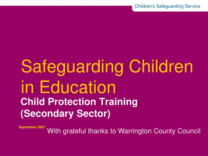 safeguarding children in education social work essay Learn how to put good safeguarding into practice with scie's training courses for social care providers, health and housing book a cpd accredited course.