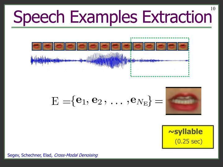 Speech Examples Extraction